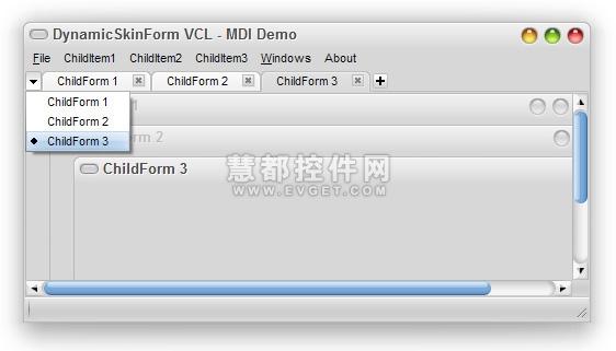DynamicSkinForm VCL预览:DynamicSkinForm VCL界面预览