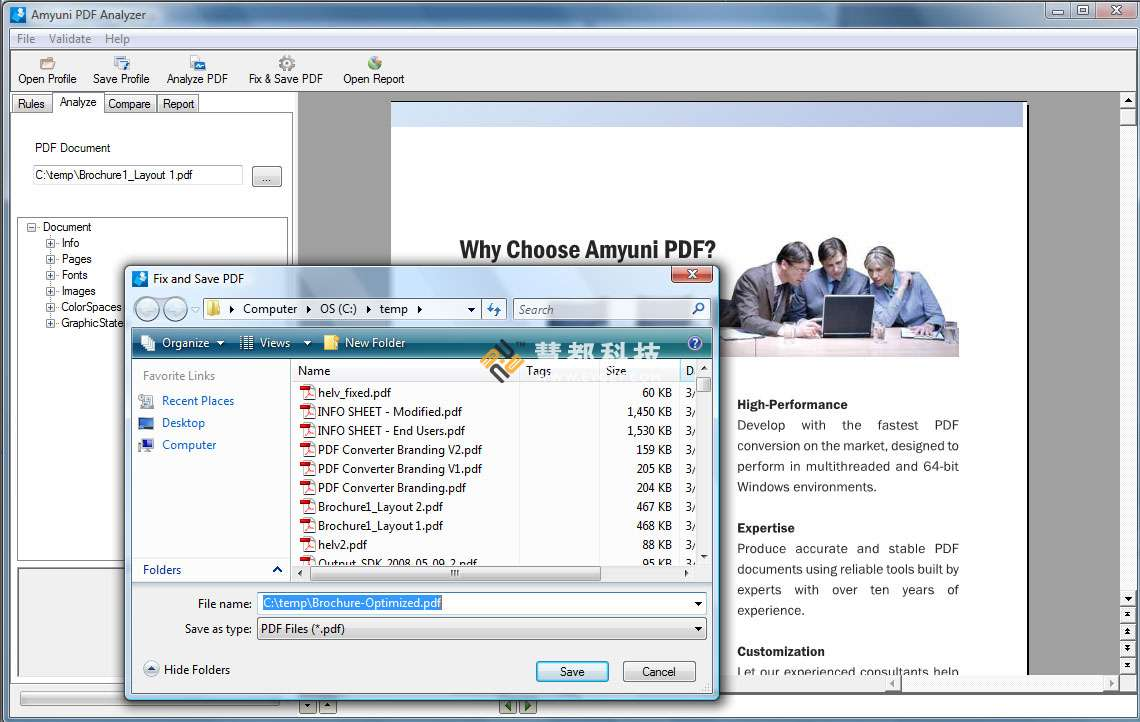 PDF Analyzer预览: