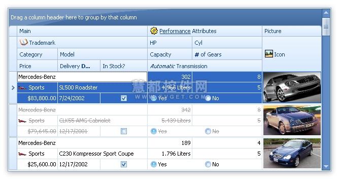 XtraGrid Suite预览:WinForms Grid Control - 高级带状区域视图