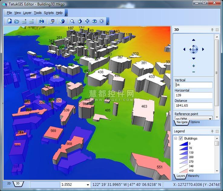 TatukGIS Editor预览:TatukGIS Editor 3D