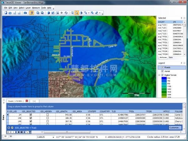 TatukGIS Editor预览:免费GIS浏览器TatukGIS Viewer
