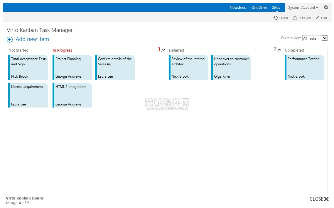 Virto Kanban Board Web Part预览:Virto Kanban Board Web Part图集