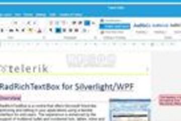 Telerik UI for Silverlight预览: