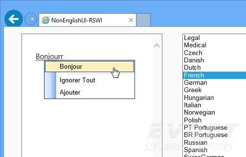 RapidSpell Web ASP.NET预览: