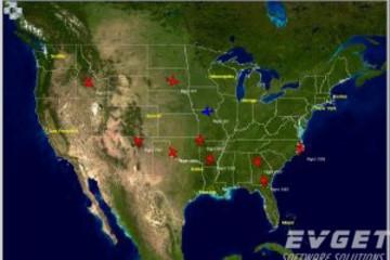 GLG Graphics Server预览:GIS AirTraffic demo