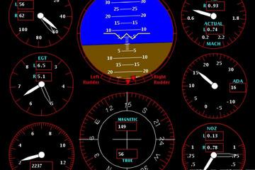 GLG Graphics Server预览:AJAX Avionics Dashboard Demo