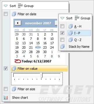 TMS Advanced Toolbars & Menus预览:Windows Vista style sticky menu