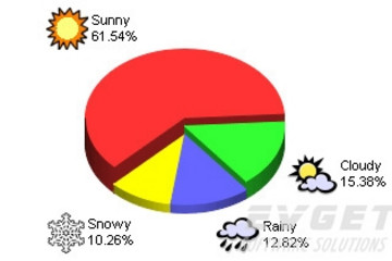 ChartDirector预览: Pie Charts