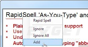 RapidSpell Desktop Java预览: