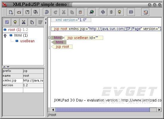 JXMLPad 预览: