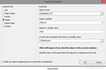 FastReport VCL预览:hyperlink