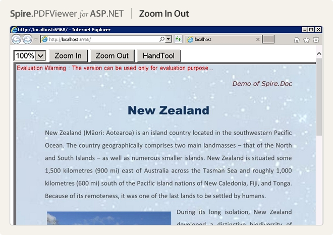 Spire.PDFViewer for ASP.NET预览:zoom in out