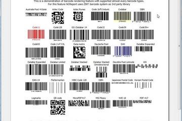 NCReport预览:barcode