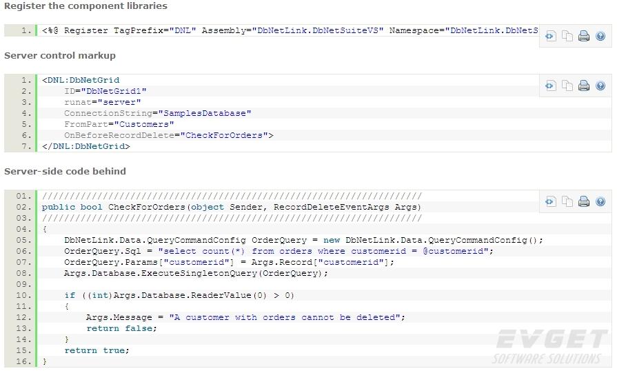 DbNetSuiteVS预览:code