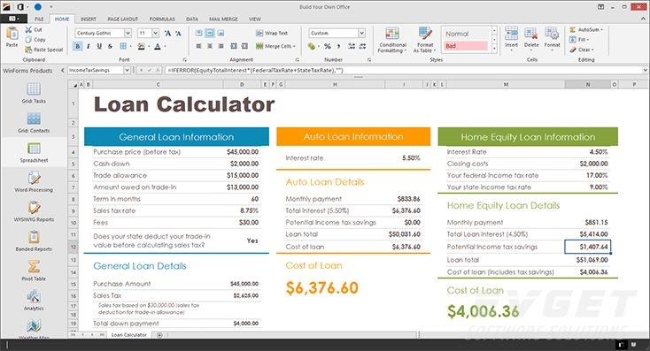 DevExpress Universal Subscription预览:Winforms - Spreadsheet