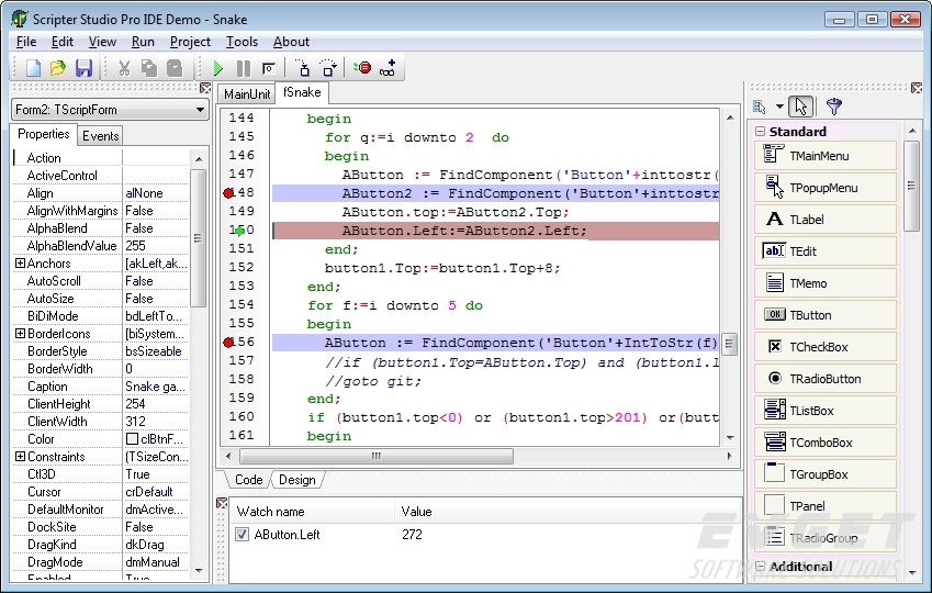 TMS Scripter预览:Scripter Pro - Debug