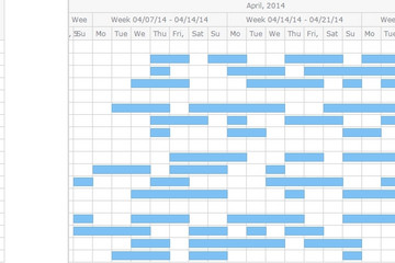 AnyGantt预览:Resource Chart Editing