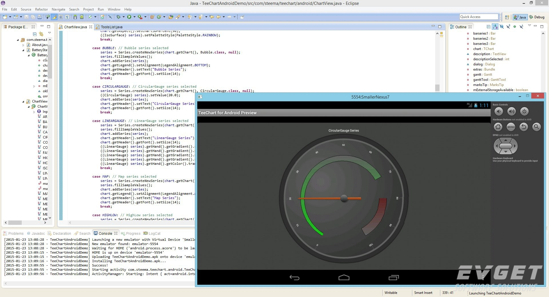 TeeChart Java for Android预览:JavaAndroid