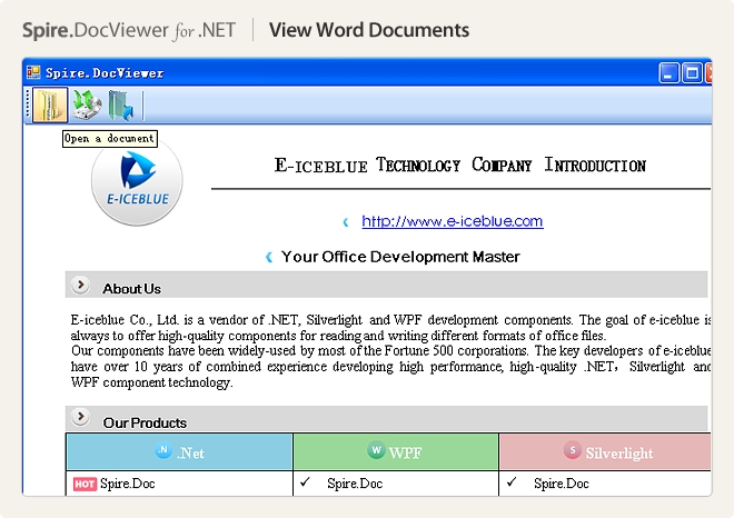 Spire.DocViewer for .NET预览:Spire.DocViewer for .NET图集