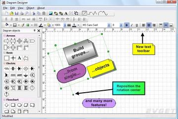 TMS Diagram Studio预览:diagram new