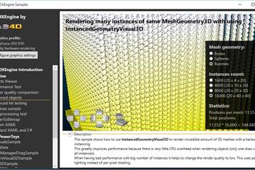 Ab3d.DXEngine预览:DirectX-Instancing-bunnies