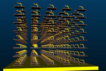 Ab3d.DXEngine预览:DirectX-Model3DGroup-Instancing