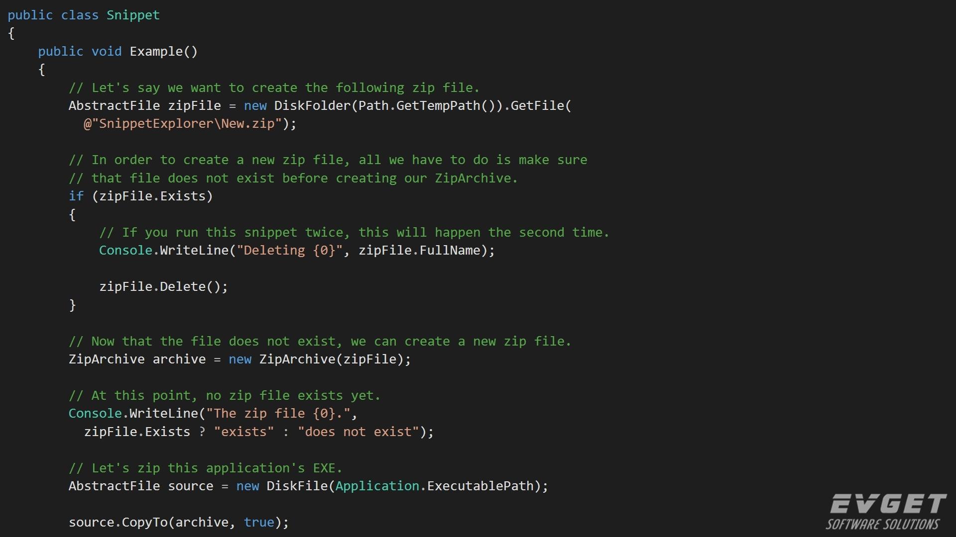 Xceed Zip for .NET预览:Xceed-Zip-Net-Screenshot