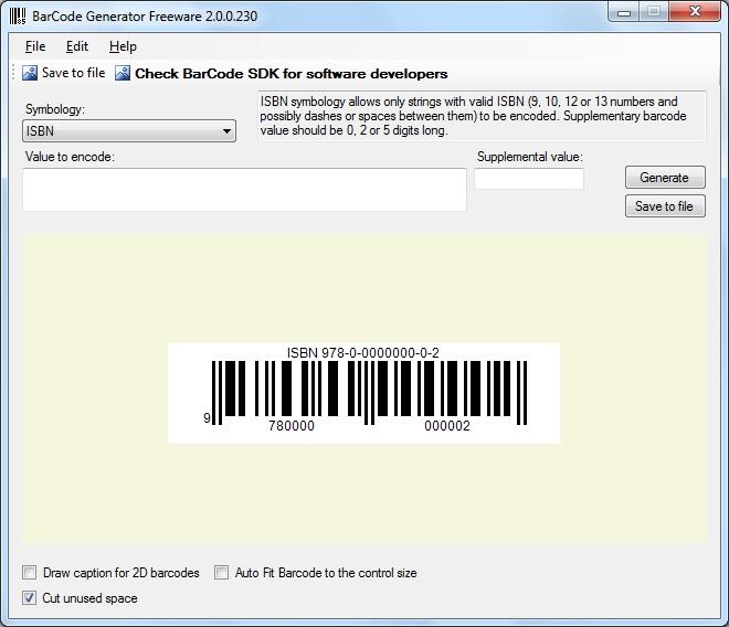 BarCode Generator SDK预览:barcode_generator_sdk_screenshot_3