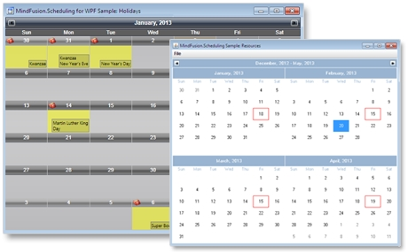 MindFusion.Scheduling Pack预览:scheduling_pack