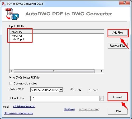 PDF to DWG Converter预览:PDF to DWG Converter 2