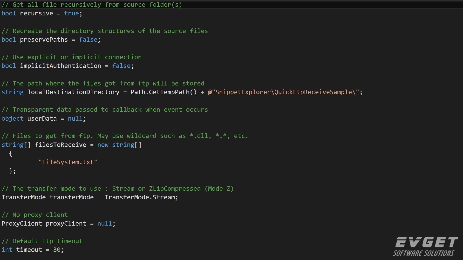 Xceed FTP for .NET预览:Xceed-Ftp-Net-Screenshot