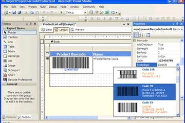 Barcode Professional for Reporting Services预览:null