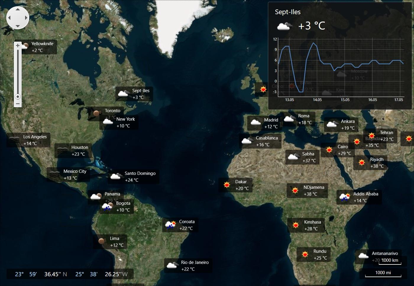 DevExpress WPF Controls预览:wpf-map-controlr
