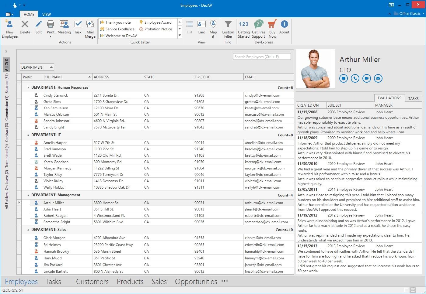 DevExpress WPF Controls预览:wpf-grid-control
