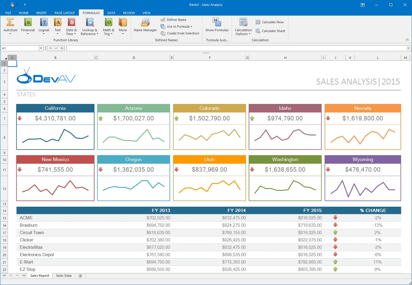DevExpress Winforms Controls预览:winforms-spreadsheet-control
