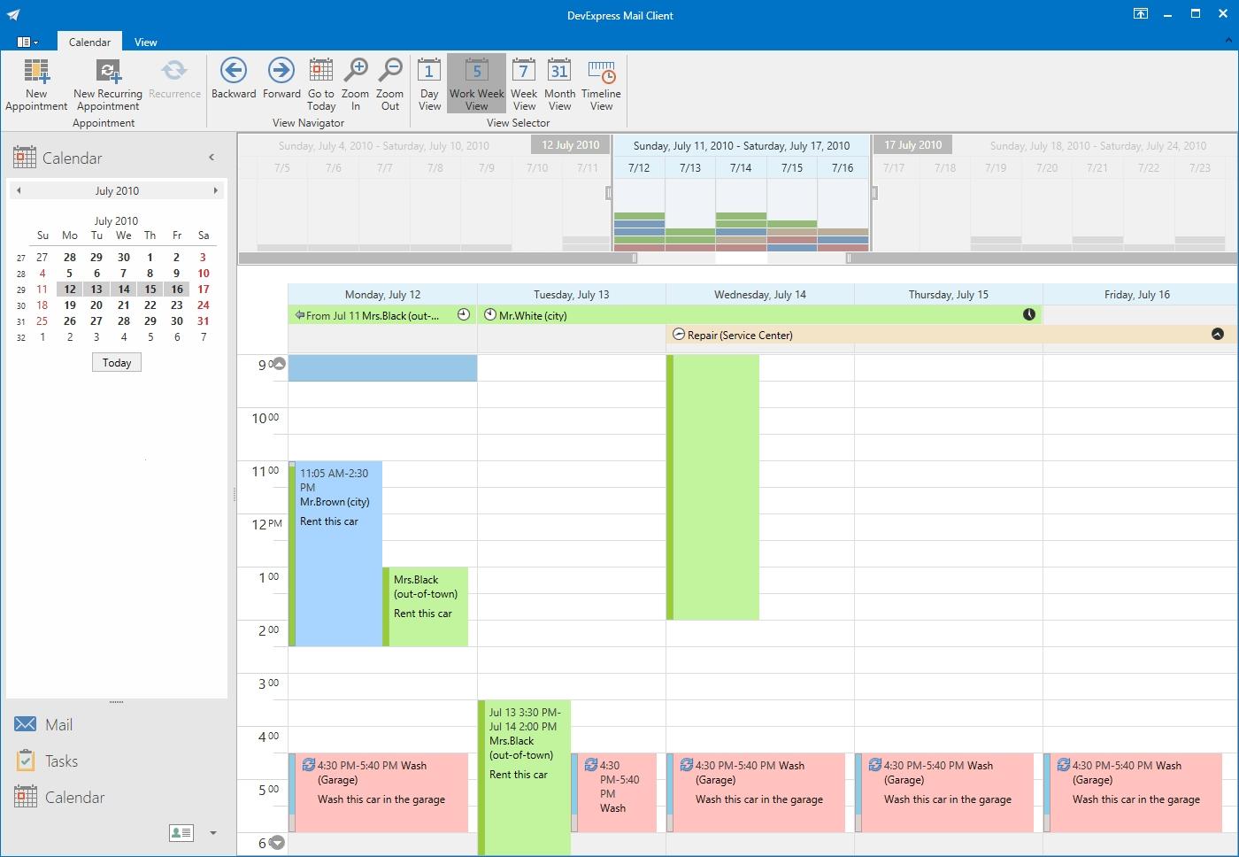 DevExpress WPF Controls预览:wpf-scheduler-control