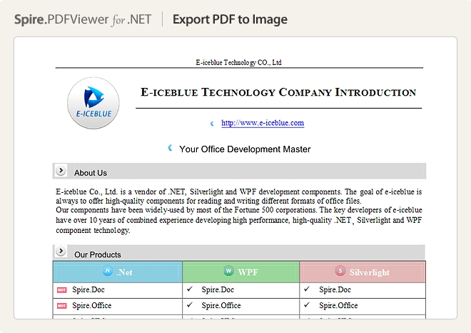 Spire.PDFViewer for .NET预览:界面截图