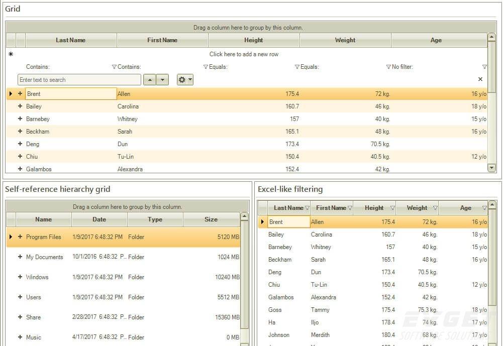 Telerik UI for WinForms预览: