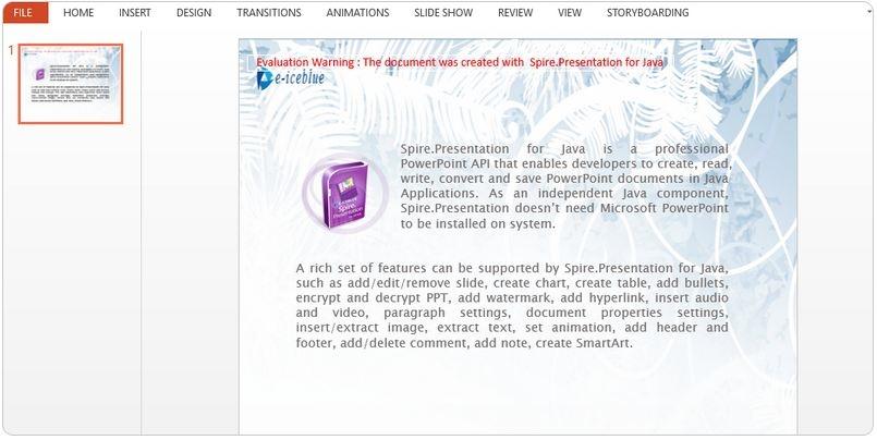 Spire Presentation for Java中文资源,最新版免费下载,在线文档,视频教程