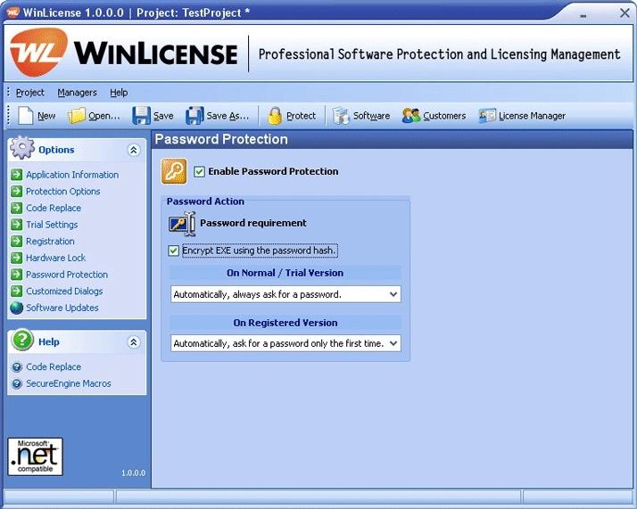 WinLicense预览: