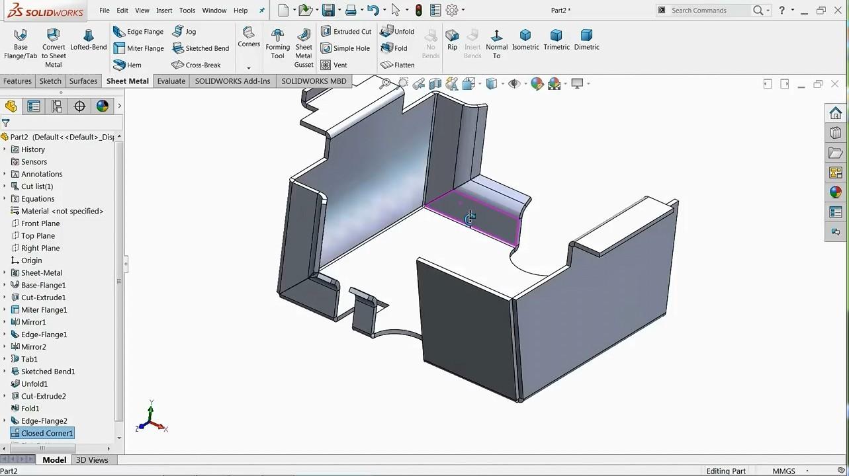 【钣金教程】SolidWorks钣金基础操作
