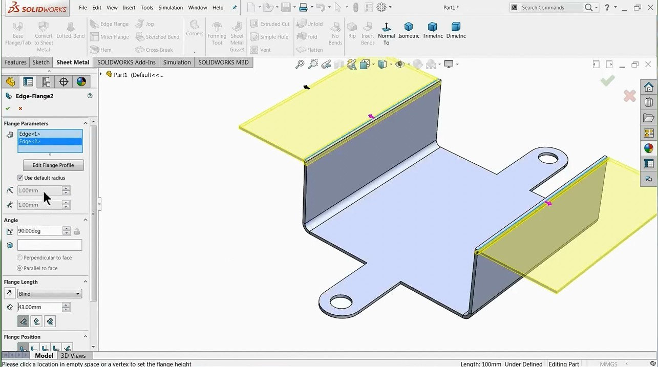 【钣金教程】SolidWorks钣金基础知识