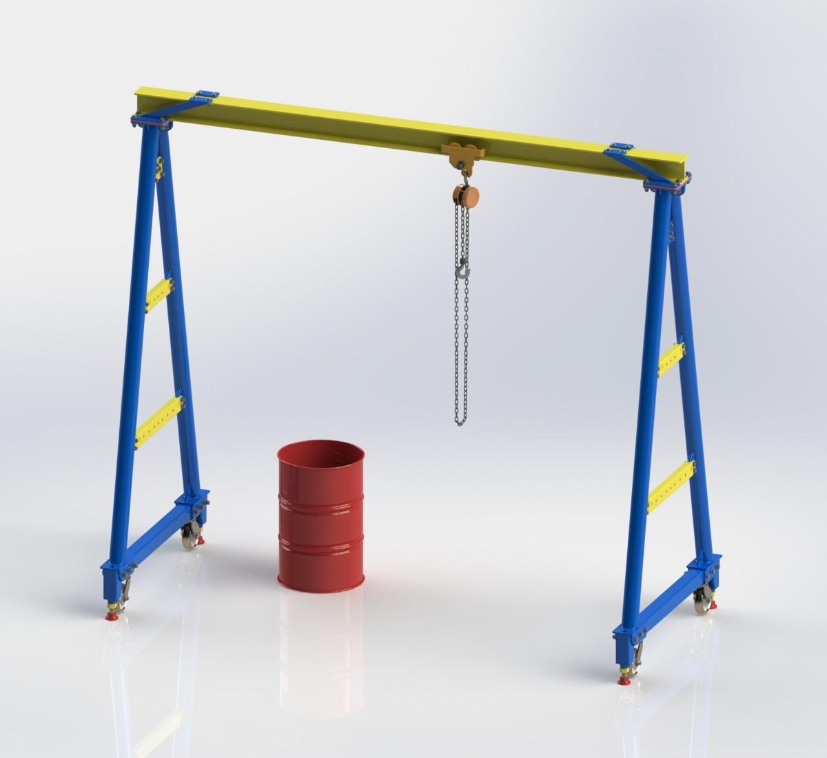 【模型】用SolidWorks软件设计一款逼真的门式起重机