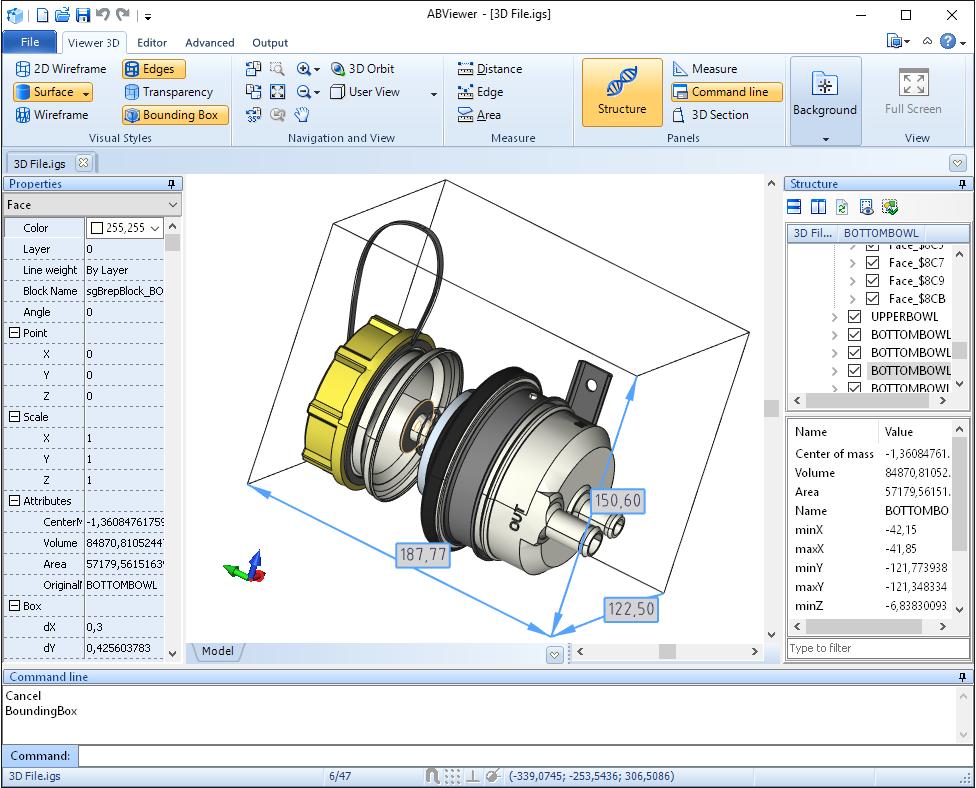 【ABviewer从零开始教学查看器篇①】3D查看器和3D剖面板
