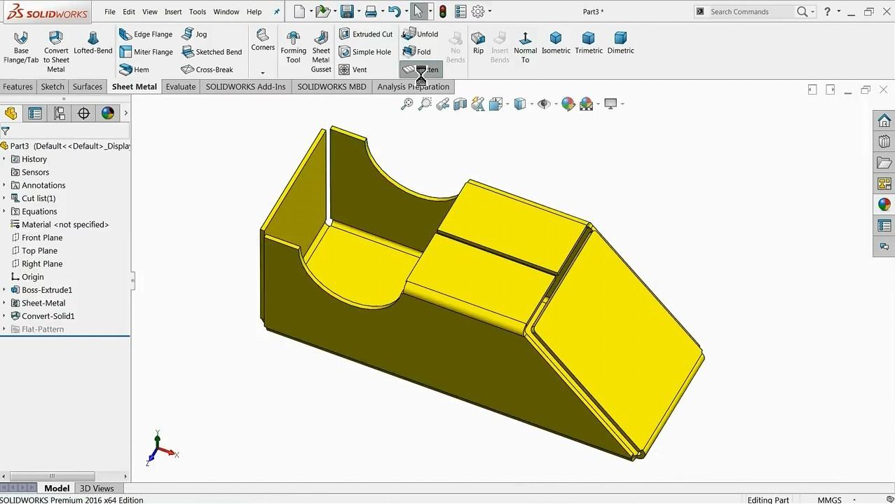 【钣金教程】如何在Solidworks中将3D零件转换为钣金件?