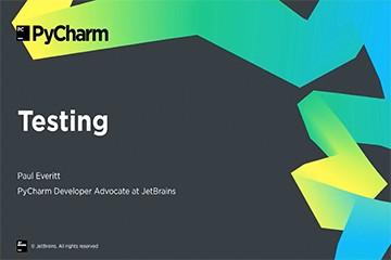 PyCharm入门视频教程:7-8 测试