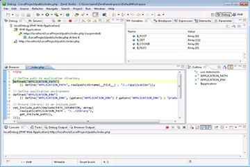 Zend Studio使用教程:在本地Zend服务器上运行应用程序(2/2)
