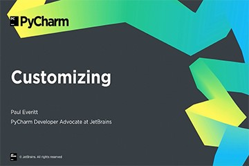 PyCharm入门视频教程:8-8 自定义PyCharm