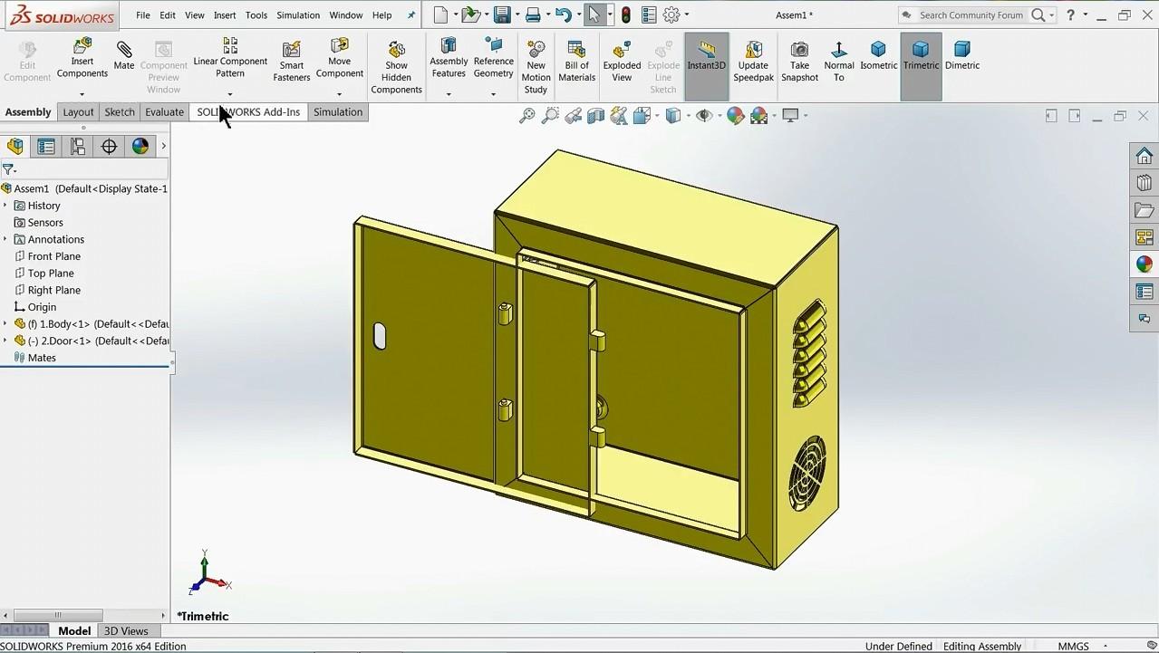 【钣金教程】Solidworks中配电箱外壳的设计