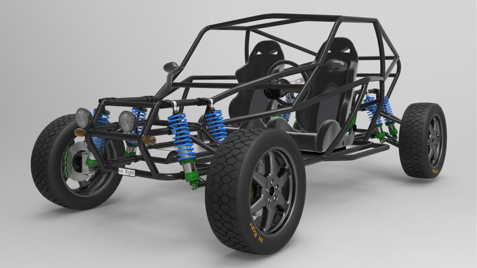 【模型】用SolidWorks软件画一款拉风の越野车